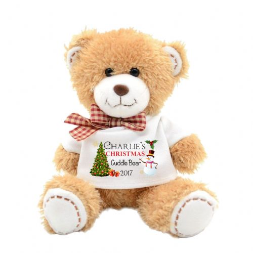 Personalised Christmas Cute Teddy Bear N13